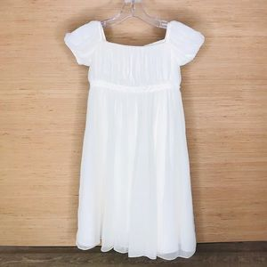 Us Angels ivory communion flower girl dress